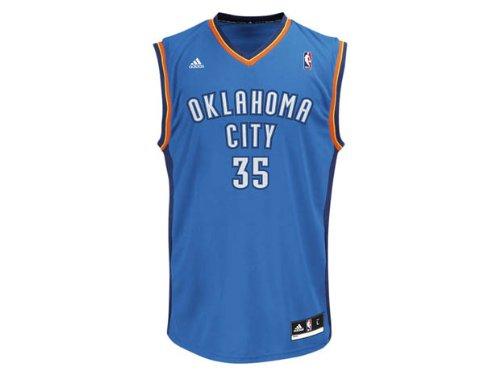Kevin Durant Adidas Oklahoma City Thunder Blue Revolution Replica Jersey