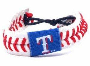 Texas Rangers Classic Baseball Bracelet