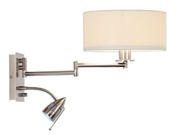 Possini Euro LED Reading and Swing Arm Wall Light