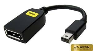 Accell B112B-001B 10-Inch UltraAV Mini DisplayPort/DisplayPort Female Adapter - Black