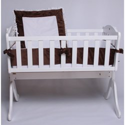 Brown Snuggle Diamond Cradle Bedding - Size: 18 X 36 front-986574