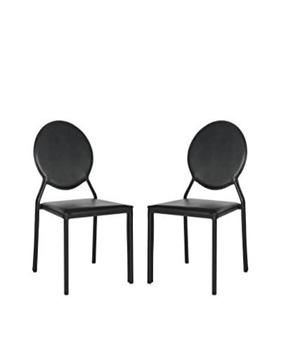 Safavieh Set of 2 Warner Side Chairs, Black