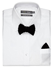 Autograph Velvet Bow Tie with Handkerchief