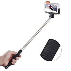 Itek by Soundlogic Selfie Stick With Built-In Auxiliary Remote - Black