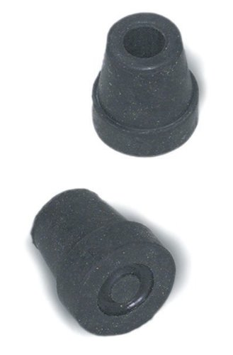 Mabis 519-1378-9504 Quad Cane Replacement Tips – Black No. 16 – Box of 4