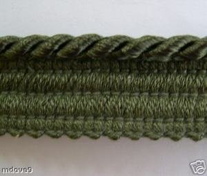 12 Yds Wrights Washable Narrow Lip Cording 1126 Branch Green