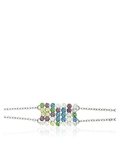 Shiny Cristal Pulsera  plata de ley 925 milésimas rodiada / Amarillo / Violeta