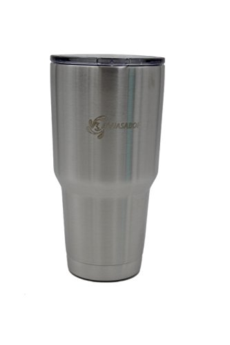 Double Wall Stainless Steel Vacuum Insulated Tumbler Cups with Free Compatible Lid GUARANTEED to Keep Cold or Hot (30 oz)