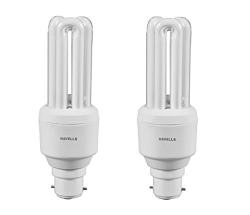 Havells Retrofit Dwarf 14W CFL Bulb (Warm White, Pack of 2)