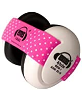 Em's 4 Bubs Hearing Protection Baby Earmuffs Size 0-18 Months (Pink/White)