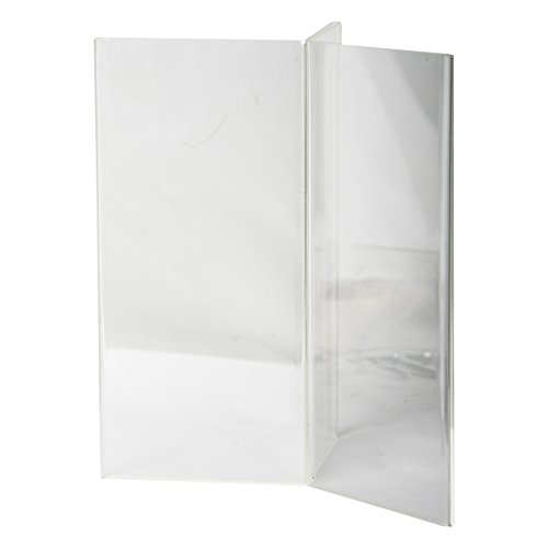 Clear-Ad - LHK-49 - Acrylic 6-Sided Restaurant Menu Table Stand (Pack of 3)
