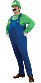 Super Mario Video Game: Deluxe Luigi Official Adult Halloween Costume (Small)