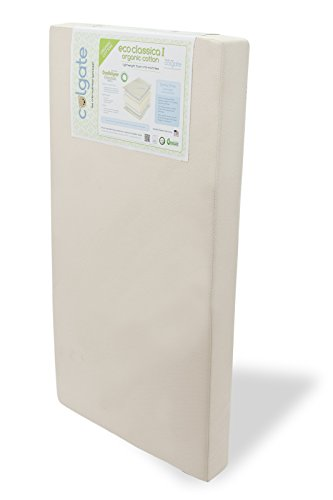 Colgate Eco Classica I - Organic Cotton Foam Crib Mattress with Waterproof Cover, Beige - 1