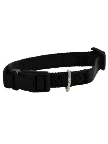 Guardian Gear Nylon Adjustable Dog Collar With Plastic Buckles, 3/8-Inch, Black