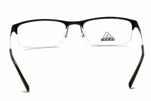 adidas Adidas Eyeglasses AF26 50 6055 Black/White Stripe Semi Rim Optical Frame 54mm
