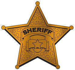 Foil Sheriff Badge Silhouette Party Accessory (1 count) - 1