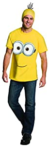 Rubie's Costume Co Men's Minion Costume T-Shirt, Yellow, Large