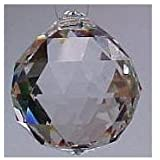 Asfour Clear Crystal Hanging Faceted Ball Prism, 20mm, 12 Piece