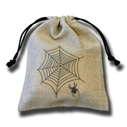 Q-Workshop- Spider (Spiders Web) Dice Bag in Linen