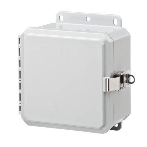 "Integra P6063Lpll Impact Line Enclosure, Low Profile Hinge, Stainless Steel Locking Latch, Integrated Flange, 6"" Height, 6"" Width, 3"" Depth"