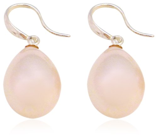 Martick Pink Mother of Pearl Frensh Wire Earrings