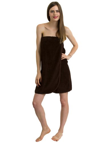 Towelselections Terry Cloth Spa Wrap - 100% Turkish Cotton, Bath Towel Wrap For Women And Men L/Xl Coffee front-957867