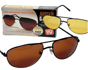 2 pairs Nightvision Sunglasses