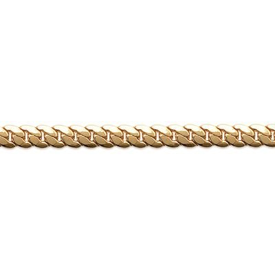 So Chic Jewels - 18K Gold Plated 50 Cm Convex 5 Mm Cuban Link Chain Necklace