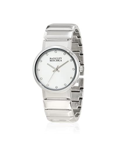 Badgley Mischka Women's 1187SVSV Swarovski Elements Silver-Tone Bracelet Watch
