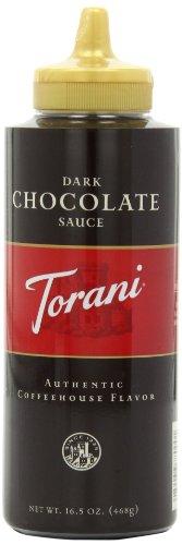 Torani Dark Chocolate Sauce, 16.5-Ounce Bottles (Pack of 6)