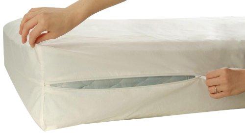 allersoft coprimaterasso 100 cotone anti acari cimici della polvere bianco ebay. Black Bedroom Furniture Sets. Home Design Ideas