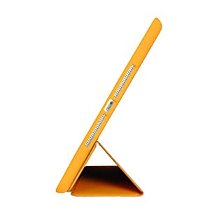 KHOMO iPad Mini / Mini 2 Retina / Mini 3 Case - DUAL Orange Super Slim Cover with Rubberized back and Smart Feature (Built-in magnet for sleep / wake feature) For Apple iPad Mini Tablet by KHOMO