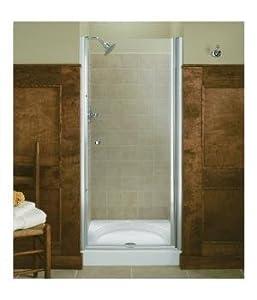Kohler K-702402-L-ABV Fluence Frameless Pivot Shower Door, Anodized Brushed Bronze