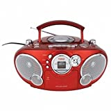 Naxa NPB-207LQ Boomboxes - Portable CD AM/FM Stereo Radio Cassette Player/Recorder (Red) ~ Naxa Electronics
