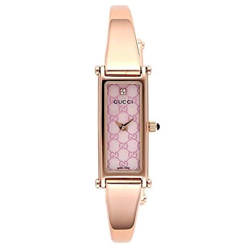 [グッチ]GUCCI 腕時計 1500 ピンクパール文字盤 ステンレス(PGPVD)ケース バングルタイプベルト ダイヤモンド YA015559 レディース 【並行輸入品】
