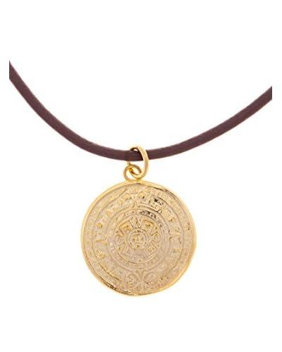 Silver One Gargantillas Denario Oro
