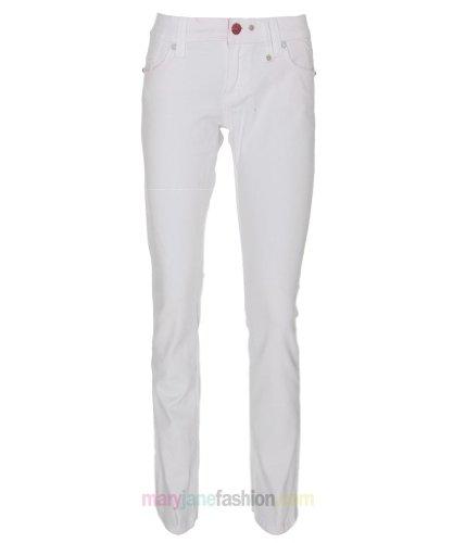 New Womens Ladies White Skinny Slim Stretch Fit Denim Jeans UK 10