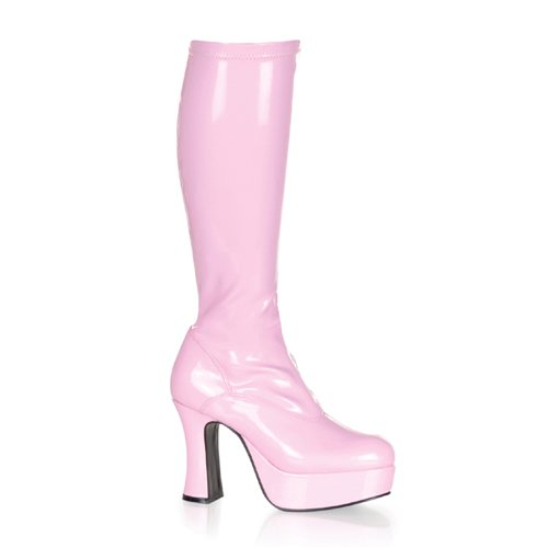 EXOTICA-2000, 4 Heel Women's Costume or Halloween Platform Stretch Patent GOGO Boots in 6 Colors and Sizes 6-14