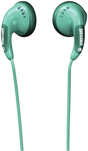 Maxell Cb-Green Color Buds Earbuds, Green