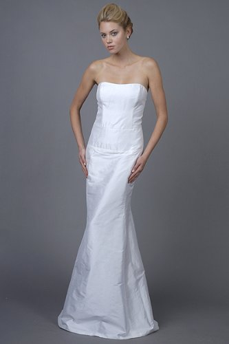 White Silk Dupioni Bridal Gowns by Nicole Miller