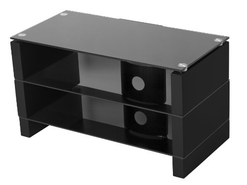 Image of AVF PFS440PB-ZF Small Contemporary TV Floor Stand for 22 to 37-Inch LED/LCD TV Screens (Black) (PFS440PB-ZF)