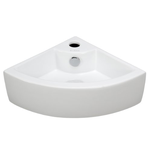 Cheap Elite Sinks EC9808 Porcelain Wall-Mounted Corner Sink, White