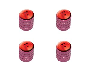 Bowling Ball Sporting Goods Sportsball Tire Rim Wheel Aluminum Valve Stem Caps – Pink Color