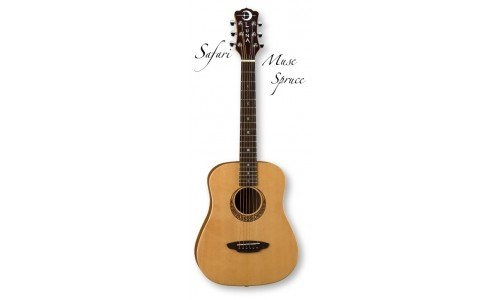 Luna Safari Series Muse Spruce 3/4-Size Travel Acoustic Guitar - Natural