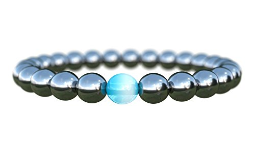 Mens-Bracelet-Semi-Precious-Natural-Stones-8mm-Handmade-Charity-by-Benevolence-LA