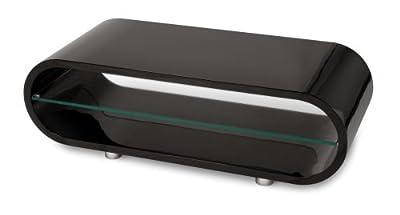 Short legs black oPod plasma and LCD designer television stand