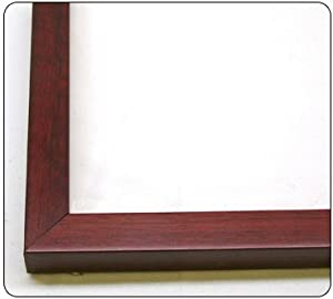 14x20 - 14 x 20 Cherry Flat Solid Wood Frame with UV Framer's Acrylic & Foam Board Backing - Great For a Photo, Poster, Painting, Document, or Mirror