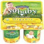 Stonyfield Farm, Yobaby Yogurt, Organic, Banana, 4/4 Oz (Pack of 6)