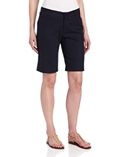 Dickies Women's 10 Inch Relaxed Stretch Twill Short, Navy, 8