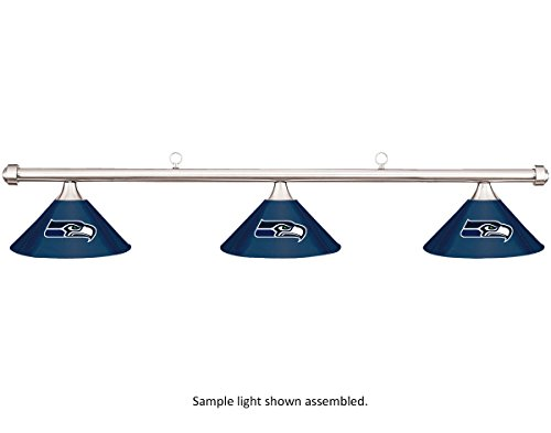 NFL-Seattle-Seahawks-Blue-Metal-Shade-Chrome-Bar-PoolBilliard-Table-Light